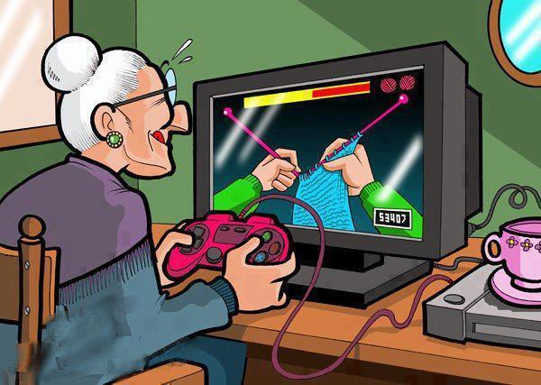 granny knitting on line